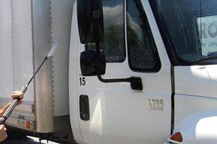 A1 Pressure Washing provides truck washing for fleet maintenance.